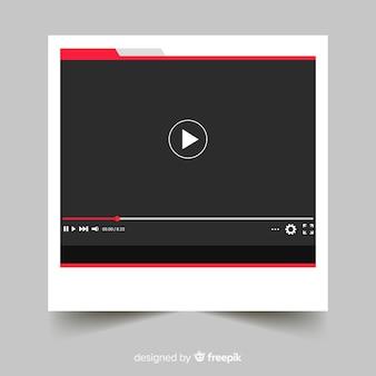 Шаблон мультимедийного проигрывателя flat youtube