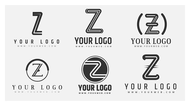 Flat #z letter logo collection