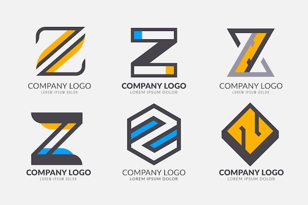 フラット#z文字ロゴコレクション