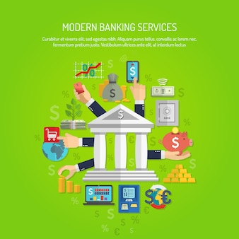 Банковская концепция flat