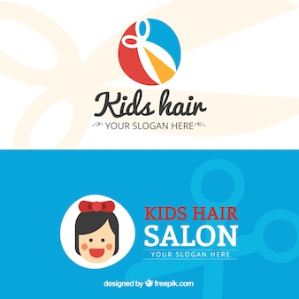 Дети волос салон flat визитная карточка