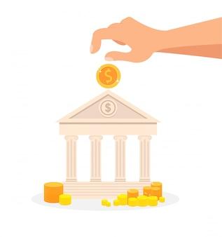 Депозит, банковская система flat