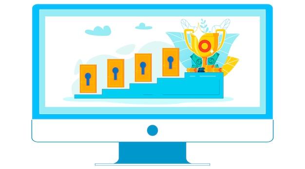Участие в онлайн-семинаре, урок flat
