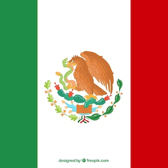 Flatmexican flag background