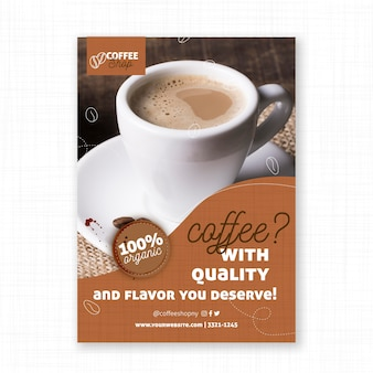 Flavored coffee poster print template