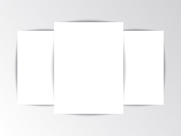 Flayer template blank leaflet on white background
