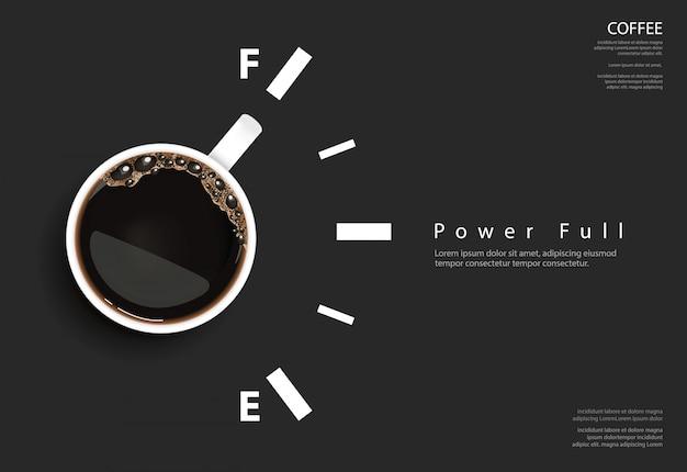 コーヒーポスター広告flayerベクトル図
