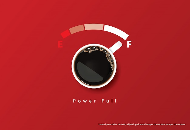 コーヒーポスター広告flayers illustration