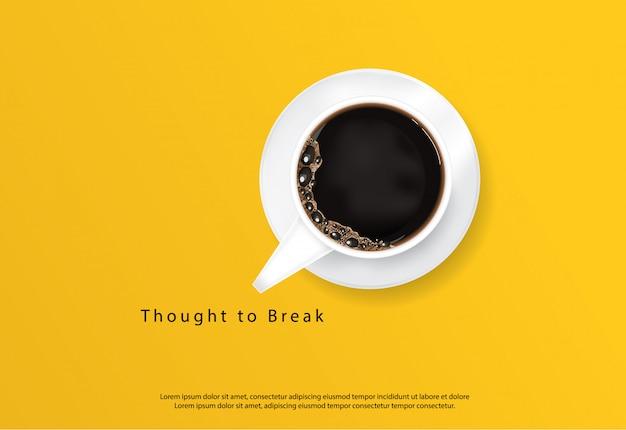コーヒーポスター広告flayersベクトルイラスト