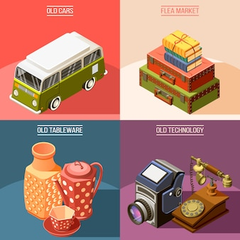 Flea market 2x2 design concept