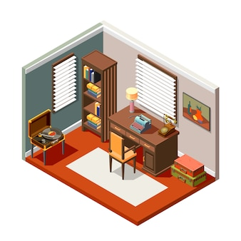 Flea market isometric composition