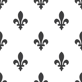 フルールドリス、ベクトルシームレスパターン、編集可能webページの背景、パターンの塗りつぶしに使用できます