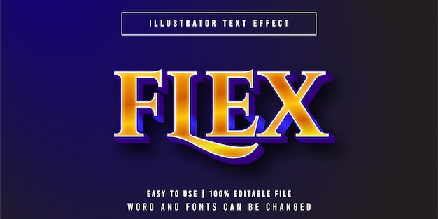 Flex. editable gold luxury text effect graphic style