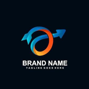 柔軟な矢印のロゴデザイン