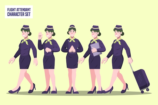 客室乗務員-プロのキャラクター