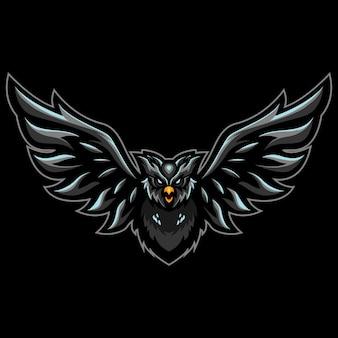 Flight owlesportのロゴイラスト