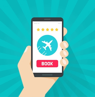 Flight tickets book online from internet via cellphone or mobile phone