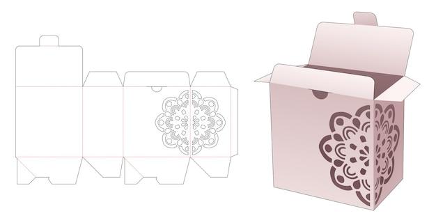 만다라 스텐실 및 플립 다이 컷 템플릿이있는 플립 및 잠긴 포인트 박스