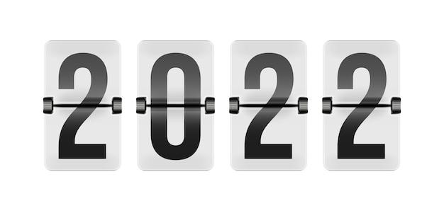 Flip clock реалистичный электромеханический двухстворчатый дисплей. числовой счетчик, показывающий часы и минуты. автоматический будильник, индикатор времени устройства векторные иллюстрации, изолированные на белом фоне Premium векторы