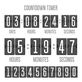 白のカウントダウン時計カウンタータイマーを反転します。