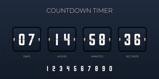 Flip countdown timer  template for website and application