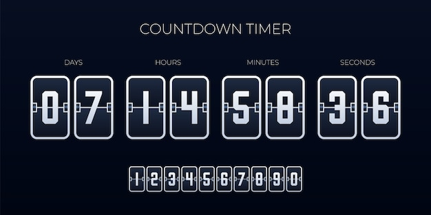 Flip countdown timer  template