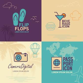 Flip-flops flat icon