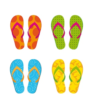 Flip flops isolated