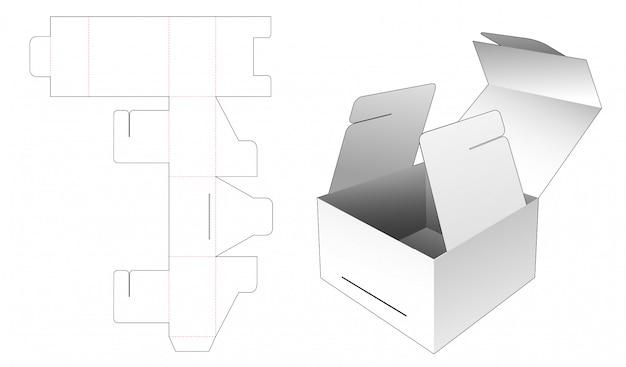Flip gift box packaging die cut template