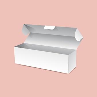 Переверните макет длинной коробки