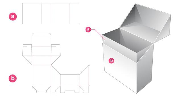 직사각형 상자 다이 컷 템플릿 뒤집기