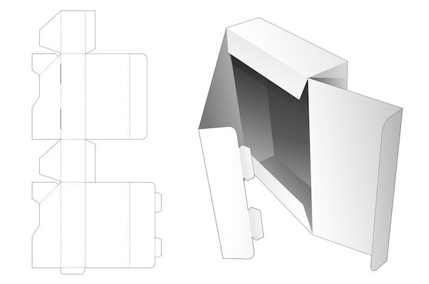 2つのロックポイントダイカットテンプレートが付いたフリップトップパッケージボックス