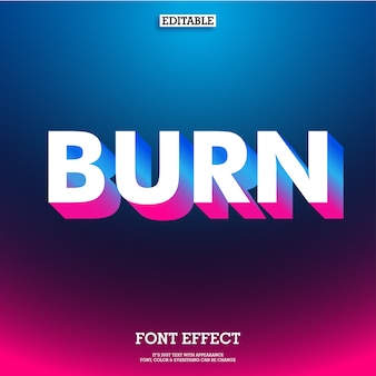 Floating 3d gradient text effect