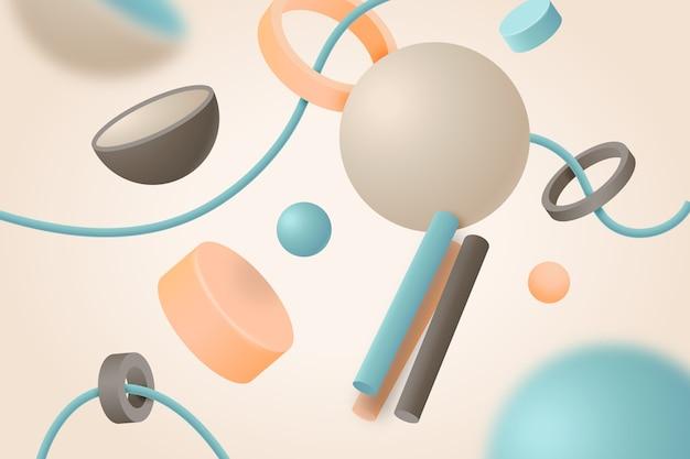 Floating 3d shapes background