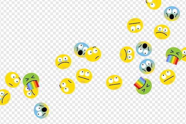 Floating emojis