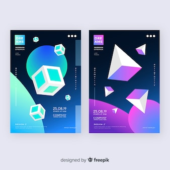 Floating shapes brochure pack