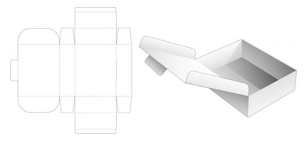 Flolding flip box die cut template