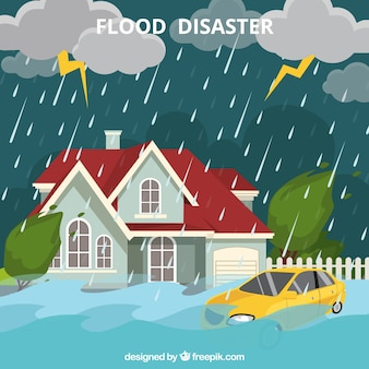 洪水災害のデザイン
