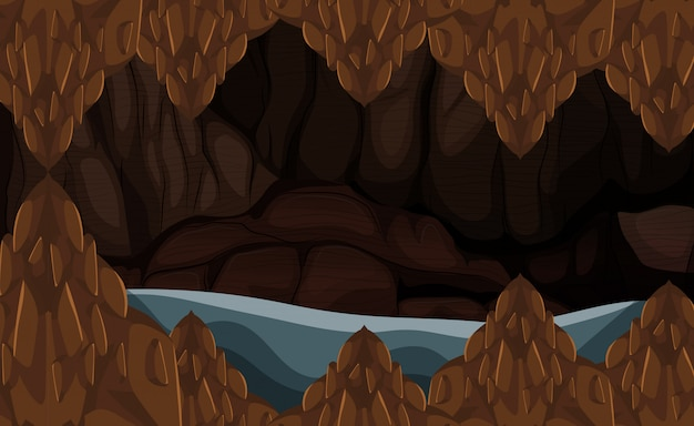 A flood stone cave