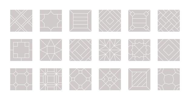 シームレスな床。寄木細工の床のラミネートベクトルパターンの床のコレクションのタイルのデザイン。イラストラミネートパターンとテクスチャフローリング表面