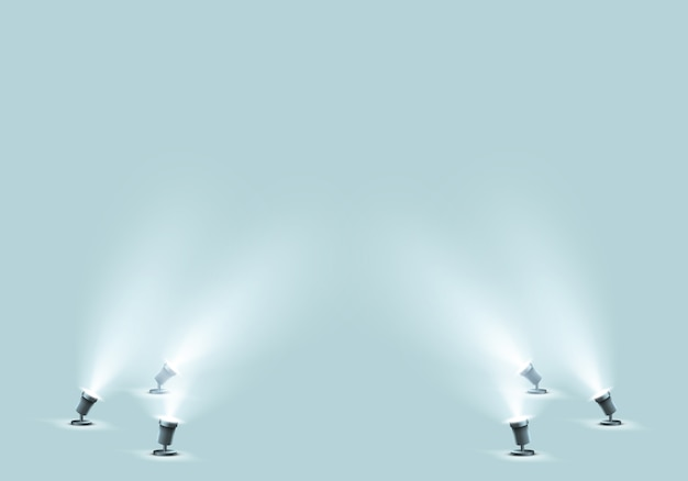 Floor spotlights for studio or stage