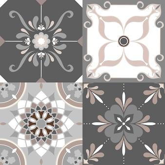 Floor tiles set