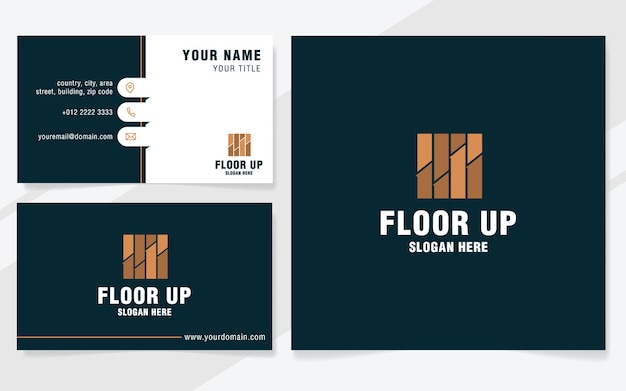 Floor up logo template on modern style