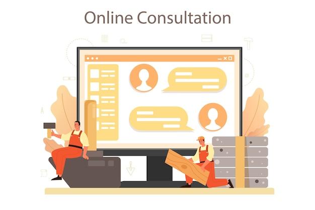 Онлайн-сервис или платформа установщика полов. профессиональная укладка паркета, деревянный или кафельный пол.