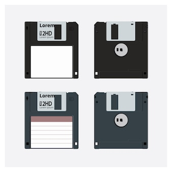 Floppy disk realistic vector illustration