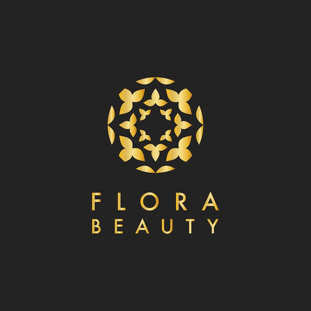 Flora beauty design logo vector