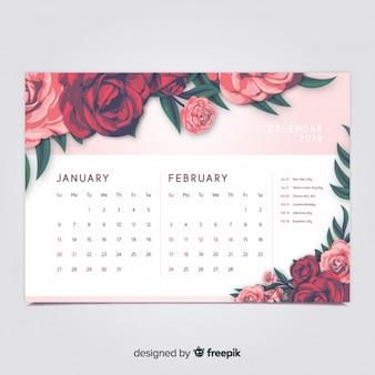 Floral 2019 calendar