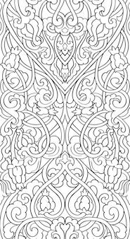 꽃 추상 장식. 중세 양식에 일치시키는 패턴.