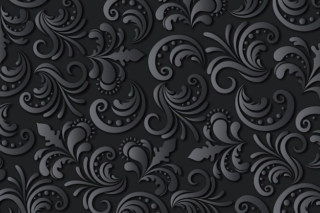 Floral abstract ornamental background