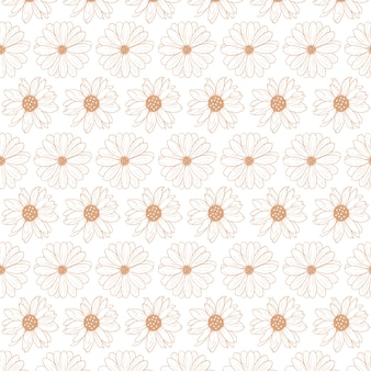 Floral abstract pattern template